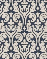 Blue Chromatics Vol XXV Fabric Fabricut Fabrics Elegy Damask Navy
