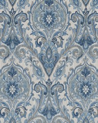 Chromatics Vol XXV Fabric Fabricut Fabrics Allusion Damask Ink