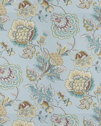 Blue Chromatics Vol XXV Fabric Fabricut Fabrics Ibsen Floral Aqua