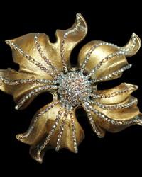 Dahlia Tieback Rusty Gold by