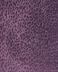 Purple Animal Print Velvet Fabric Barry Eggplant