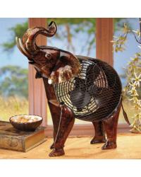 Figurine Fan African Elephant by