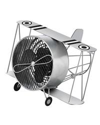 Figurine Fan - Silver Biplane by