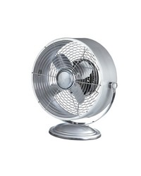 Silver Retro Swivel Fan by