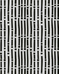 S Harris Aja Black On White Fabric