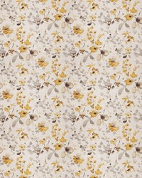 Yellow Oriental Fabric  03367 Yellow Grey