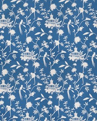 Blue Oriental Fabric  03364 Blue
