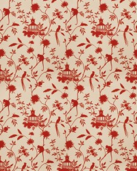 Red Oriental Fabric  03364 Red