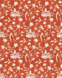 Orange Oriental Fabric  03364 Orange