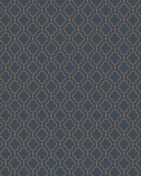 Trellis Diamond Fabric  03487 Marine