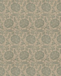 Green Jacobean Fabrics  03648 Seaspray