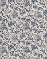 Blue Jacobean Fabrics  03677 Indigo