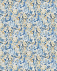 Classic Paisley Fabric  03807 Atlantic