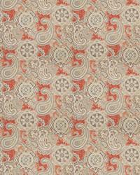 Orange Classic Paisley Fabric  03806 Cinnabar