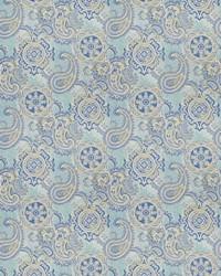 Classic Paisley Fabric  03806 Lagoon