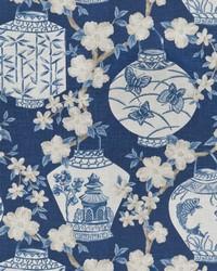 Blue Oriental Fabric  03710 Navy