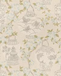 Grey Oriental Fabric  03710 Stone