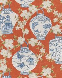 Orange Oriental Fabric  03710 Pumpkin
