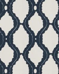 Blue Trellis Diamond Fabric  04020 Navy