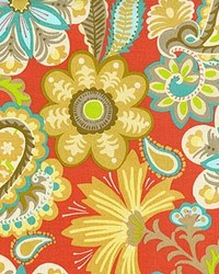 P K Lifestyles PKL OD Flower Child Cayenne Fabric