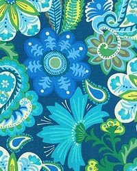P K Lifestyles PKL OD Flower Child Sapphire Fabric