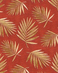 P K Lifestyles PKL OD Fossil Fronds Rust Fabric