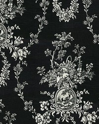 P K Lifestyles Country House Toile Noir Fabric