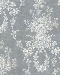 Silver French Country Toile Fabric  Country House Toile Platinum