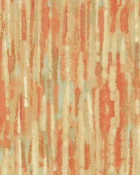 Orange Abstract Fabric  High Spirits Desert