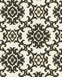 P K Lifestyles TBO Medallion Isle Black Sand Fabric