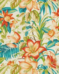 P K Lifestyles TBO Botanical Glow Tiger Lily Fabric