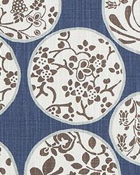Blue Oriental Fabric  Aiko Regal Blue Slub Canvas