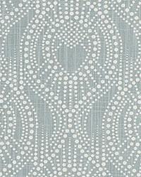 Blue Circles and Swirls Fabric  Alyssa Regal Blue Slub Canvas