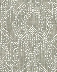 Grey Circles and Swirls Fabric  Alyssa Regal Slub Canvas