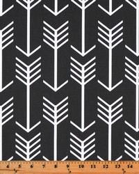 Black Novelty Western Fabric  Arrow Black