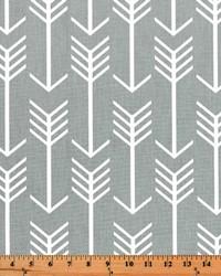 Grey Novelty Western Fabric  Arrow Cool Grey