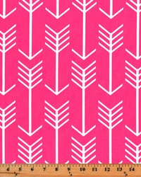 Pink Novelty Western Fabric  Arrow Candy Pink