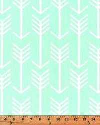 Green Novelty Western Fabric  Arrow Mint Twill