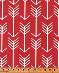 Red Novelty Western Fabric  Arrow Timberwolf Red Macon