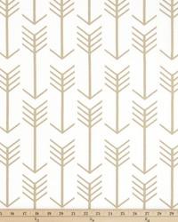 Gold Novelty Western Fabric  Arrow White Athena Gold