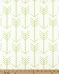 White Novelty Western Fabric  Arrow White Kiwi Twill
