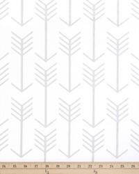 White Novelty Western Fabric  Arrow White Luna Silver