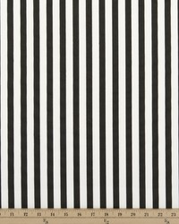 Basic Stripe Black Twill by