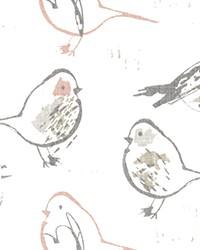 Bird Toile Blush Slub Canvas by