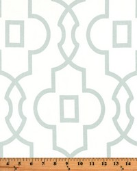 White Trellis Diamond Fabric  Bordeaux Snowy