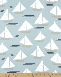 Blue Boats and Sailing Fabric  Cape May Spa Blue