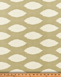 Beige Circles and Swirls Fabric  Chaz Ecru Slub
