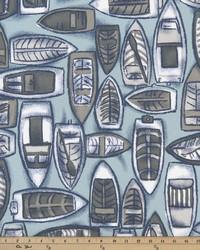 Blue Boats and Sailing Fabric  Colva Spa Blue
