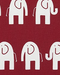 Red Jungle Safari Fabric  Ele Crimson