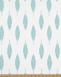 White Birds Fabric  Feather Silhouette White Canal